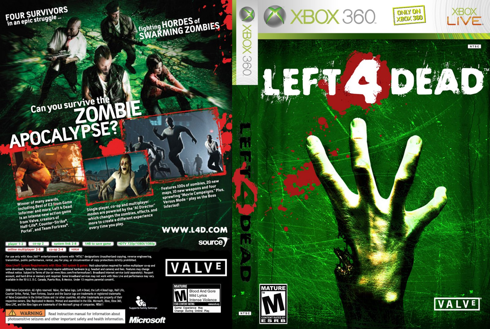 Download Left 4 Dead - Xbox360 Xbox 360 Game Covers Download