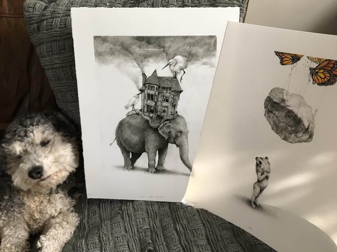 09-Small-and-Very-Large-Surreal-Animal-Drawings-www-designstack-co