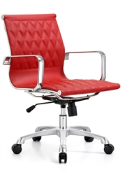 Red Leather Office Chair