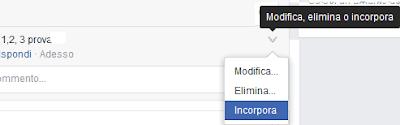 Incorporare commento facebook su un sito web