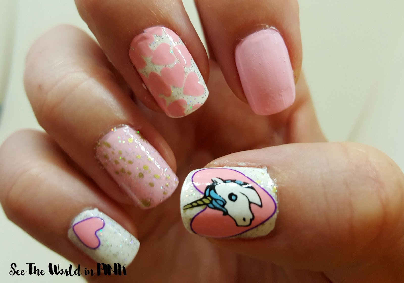 go scratch it unicorn nail wraps