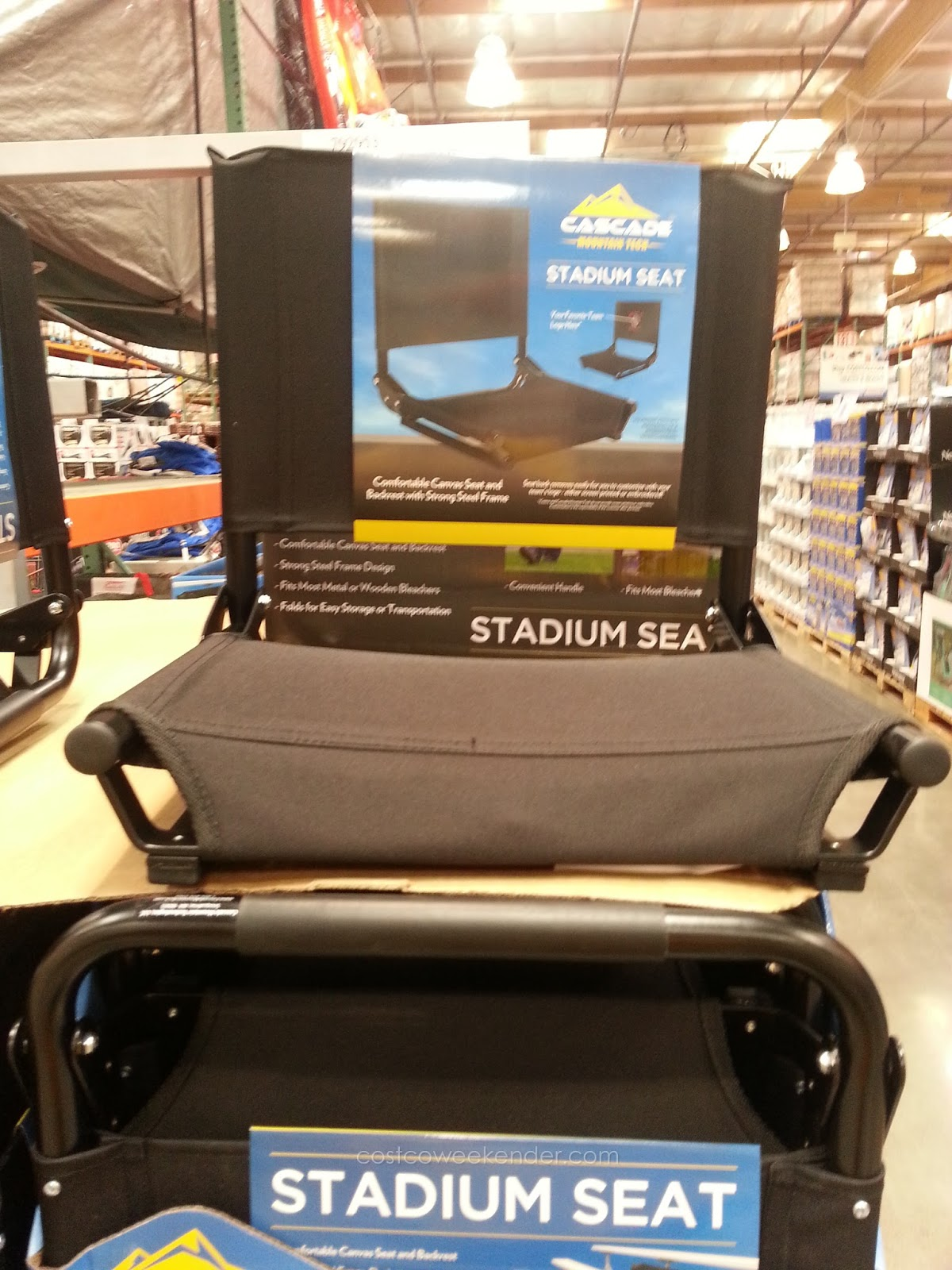 Stadium Chairs Cascade Mountain Tech Stadium Seat Costco Weekender