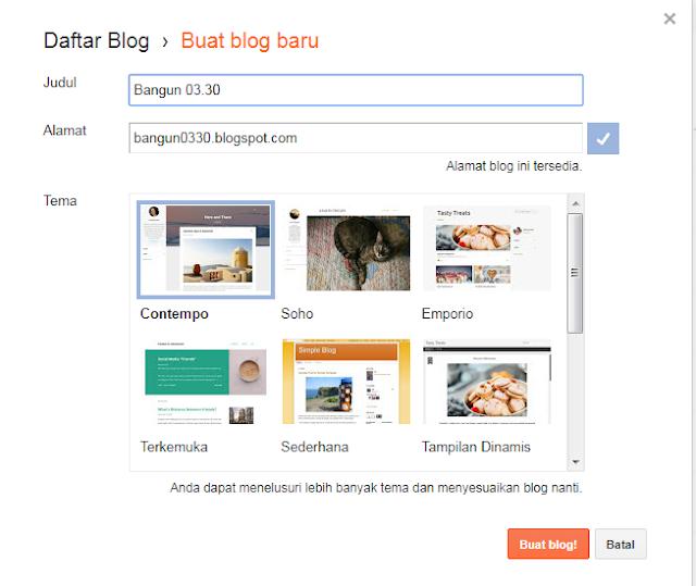 Cara Membuat Daftar Blog