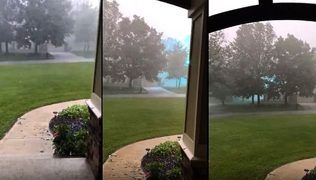 'Eerie Energy' travels through the air filmed during hailstorm over Ohio  Eerie%2Benergy%2Bpower%2Blines%2Barching%2Bohio