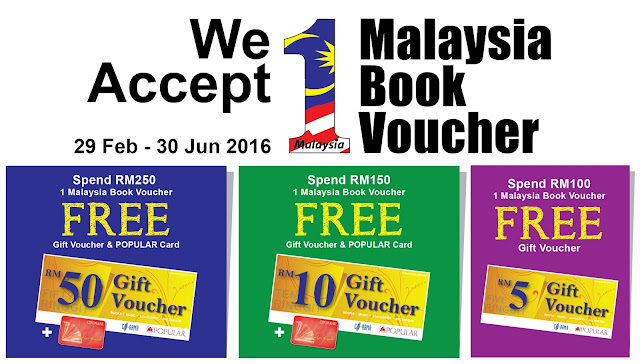 Popular Bookstore 1Malaysia Book Voucher (BB1M) Promotion