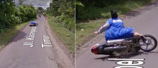 Google Street View ibu jatuh