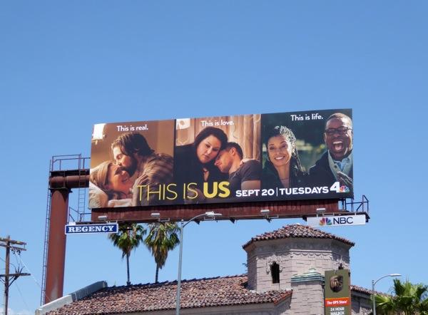 This Is Us series premiere billboard