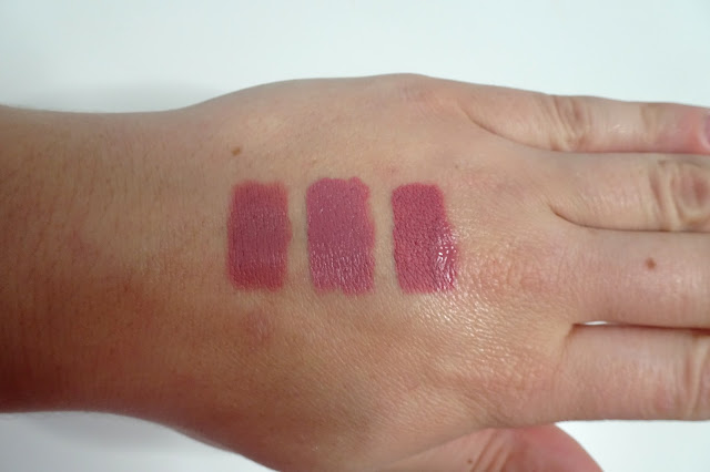 bell long lasting perfect lipstick ideal nude, urban decay vice backtalk, sephora cream lip stain 13 marvelous mauve