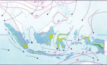 Pengertian angin muson, angin muson, angin muson barat, pengertian angin muson barat, angin muson timur, pengertian angin muson timur.
