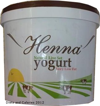 Diets And Calories Henna Natural Very Low Fat Set Yogurt