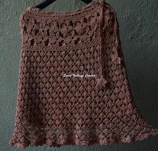 free crochet skirt pattern, free crochet continuous motif pattern