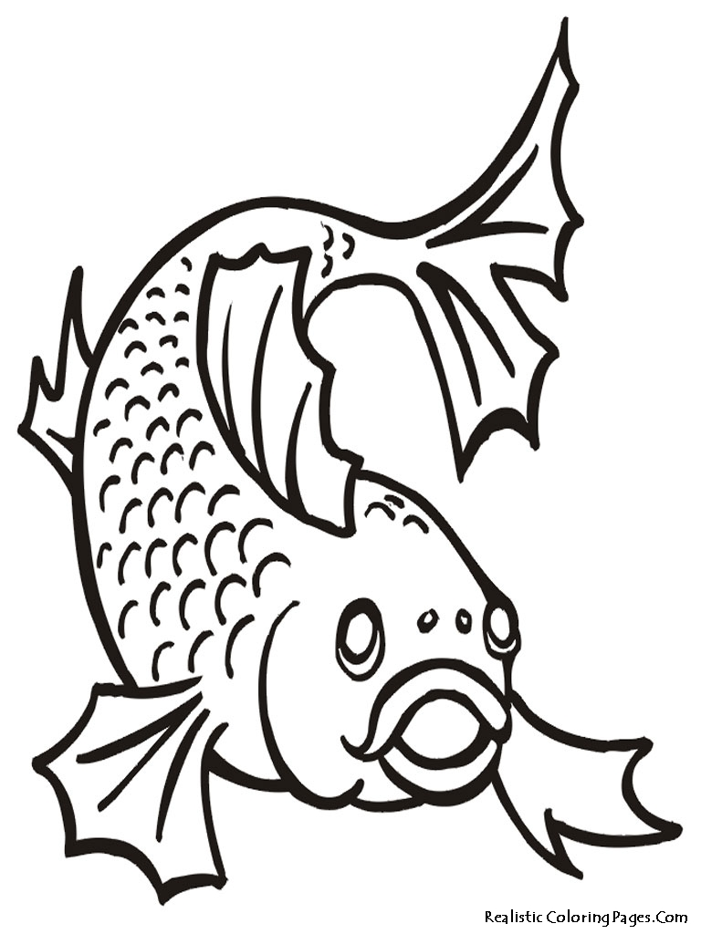 goldfish coloring pages - photo#25