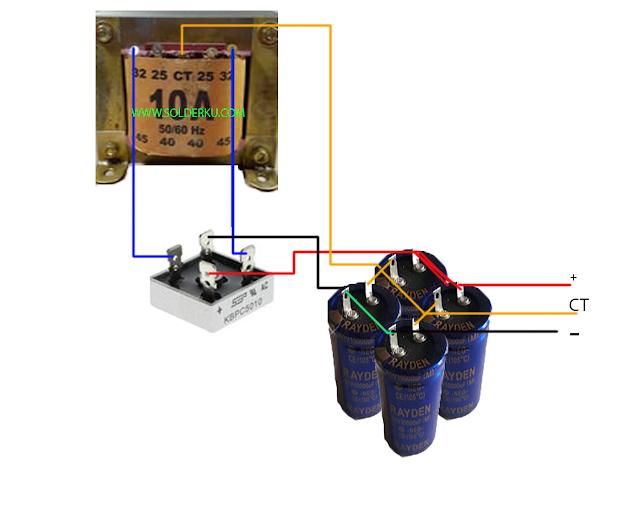 cara merakit power suplay 10 Ampere CT