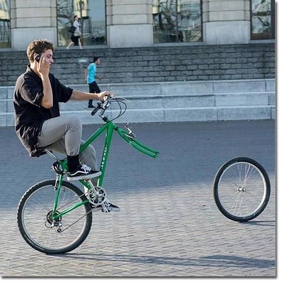 Cenas incríveis que só existiram por alguns segundos - Bicicleta sem roda