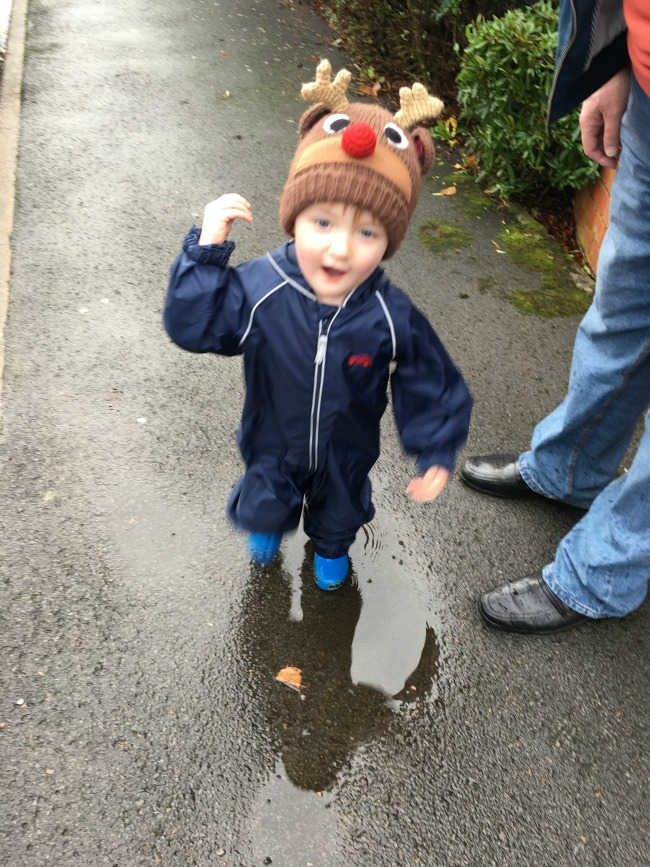 weekly-update-Flu-Bear-and-Me-toddler-stomping-in-puddle