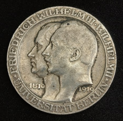 German States Coins Prussia 3 Mark Silver Commemorative
