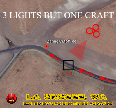 Google Earth Satellite image of La Crosse, WA showing area of UFO report.