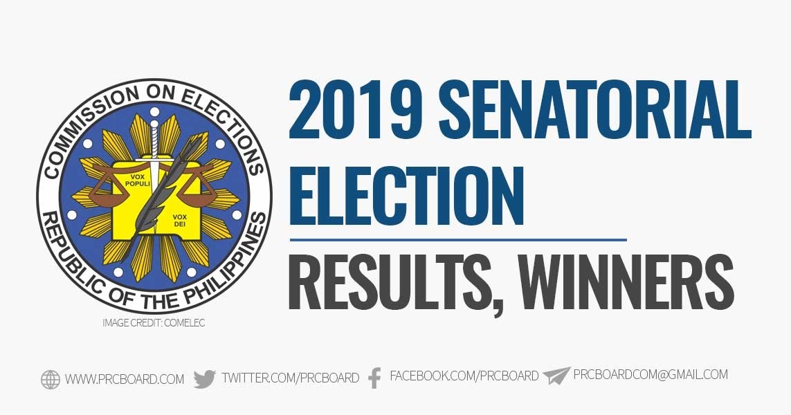 WINNERS – 2019 Senator Elections, COMELEC Proclamation, Results and