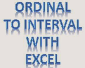 Ordinal To Interval With Excel