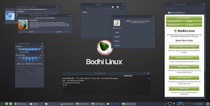 Bodhi Linux 4.5.0 - Διανομή βασισμένη στο Ubuntu με ελαφρύ γραφικό περιβάλλον