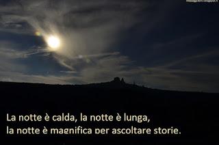 La notte è calda, la notte è lunga, la notte è magnifica per ascoltare storie. sefa altunsoy