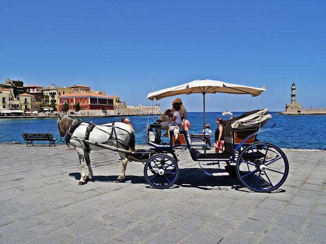starówka Chania widok na port