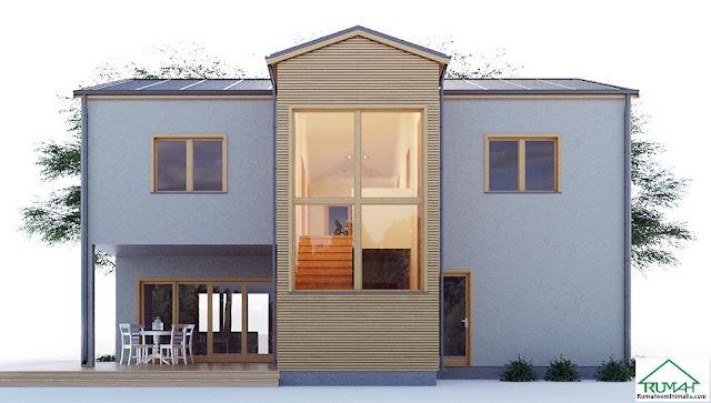 Denah Model Desain Gambar Rumah Minimalis Idaman Modern Tipe 383