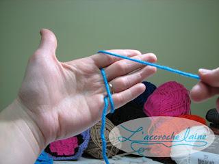 L'accroche laine - Apprendre à bien tenir sa laine et le crochet