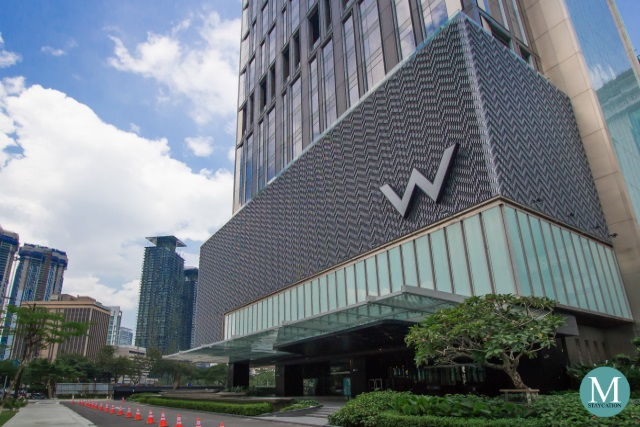 facade of the building of W Hotel Kuala Lumpur
