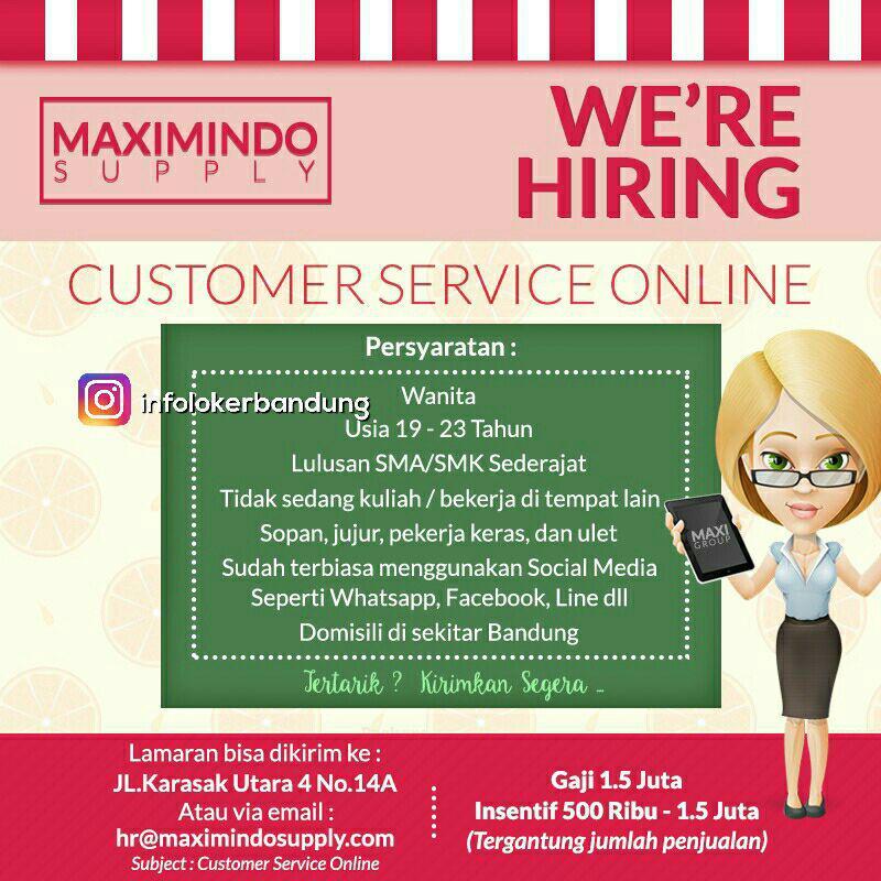 Lowongan Kerja Customer Service Online Maximindo Supply Juli 2017