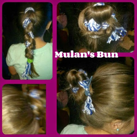 Disney Princess Hairstyles  mulan bun trial