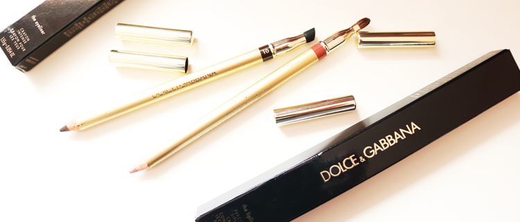 Dolce & Gabbana Crayon Intense Eyeliner in 10 Chocolate and Precision Lipliner in Nude 01