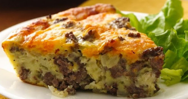 Easy Cheeseburger Pie , weight watchers recipes , 10 smart points