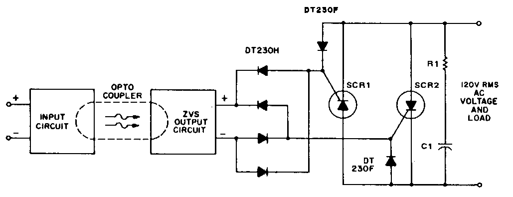 Simple Solid State Relay Circuit Diagram