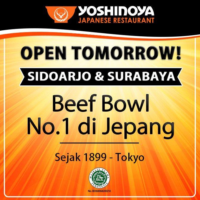#Yoshinoya - Promo Opening Sidoarjo & Surabaya GRAtiS Payung & Promo Lainnya (HARI INI)