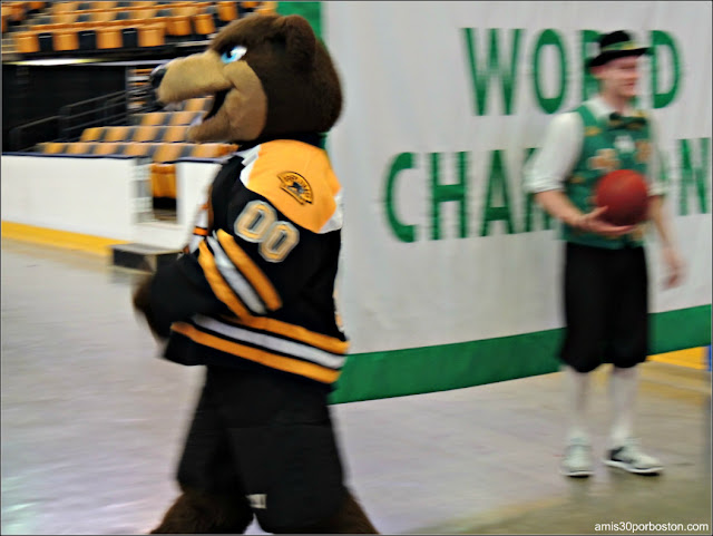 Mascotas Boston Celtics y Boston Bruins