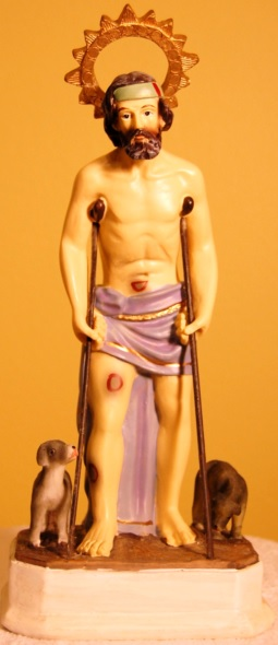 Imagen de San Lázaro en escultura