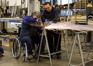 Personas con discapacidad trabajando
