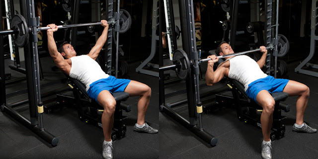 Best Chest Exercises of All Time - 30 Exercise - Smith Machine Incline Press