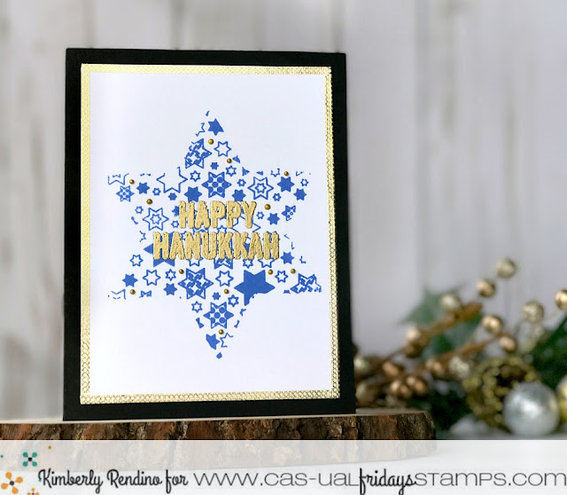 Hanukkah | handmade card | kimpletekreativity.blogspot.com | CAS-ual Fridays Stamps | cardmaking | papercraft | Star of David