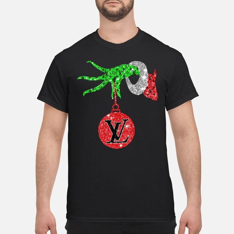 c6c5ac57b25a Grinch hand holding Louis Vuitton Ornament shirt - King4Tees - Shop ...