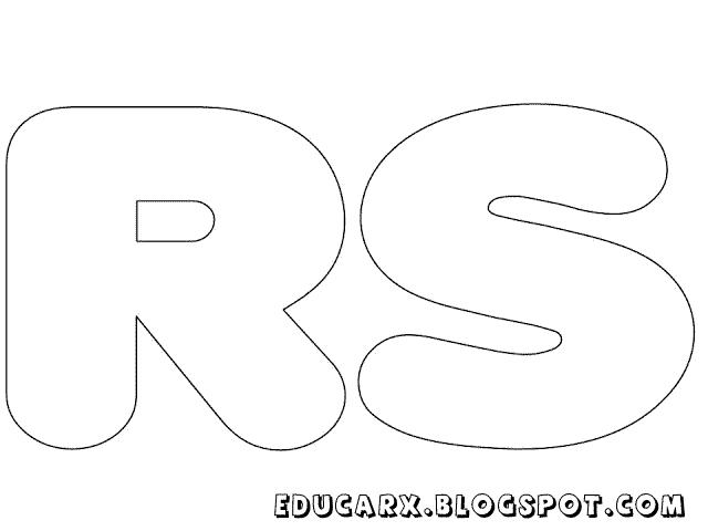 Molde de letras grandes rs