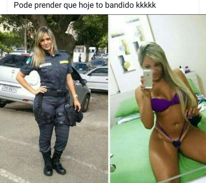 Policial mineira maita caiu no whatsapp nua - 1 part 1