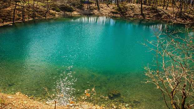 Blauer See in Baia Sprie, Blue Lake in Baia Sprie