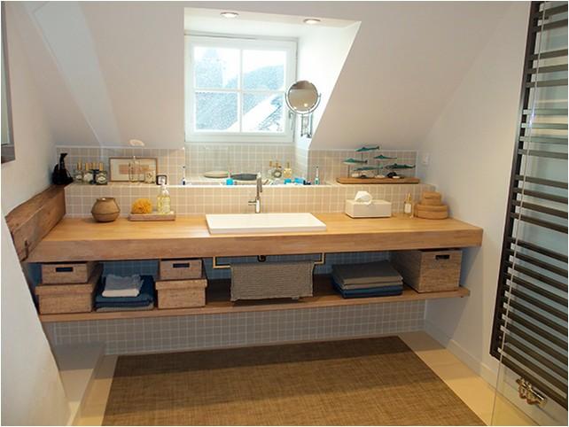 plan de travail en teck pour salle de bain salle de bain. Black Bedroom Furniture Sets. Home Design Ideas