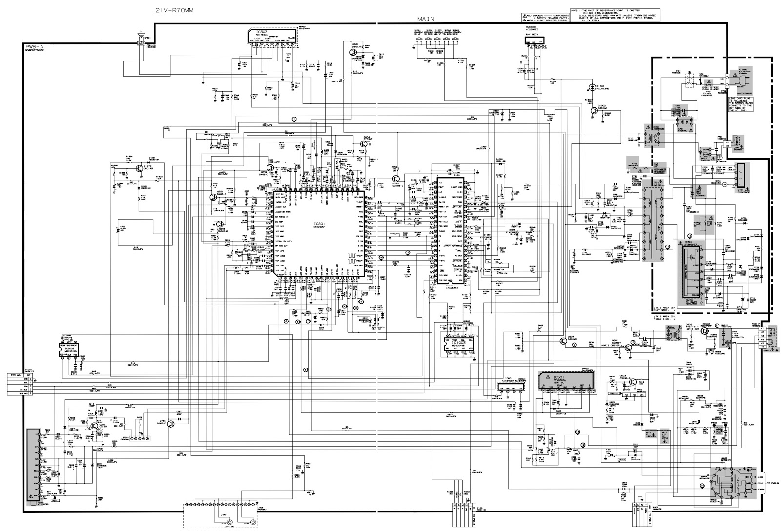 Sharp 21vr70mm Service Mode Adjustments Schematic Colour Vco Circuit Diagram Self Adjustment H 1 When There Is Key Input For Item Performed