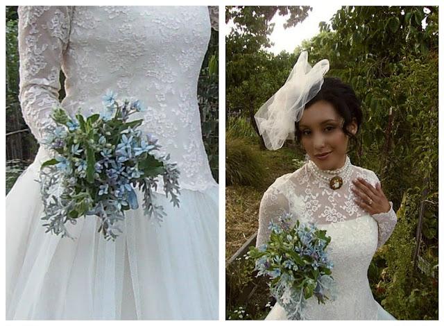 Bride 39 s dress annsquiltingjourney for Helen miller wedding dresses