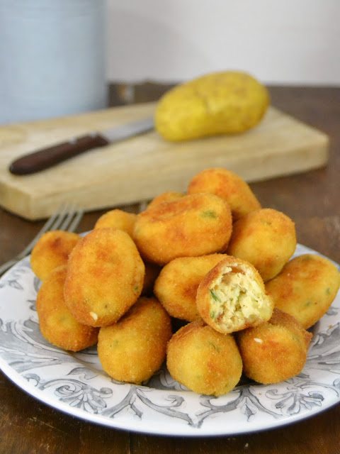 Croquetas de pollo con patata ¡Sin bechamel!
