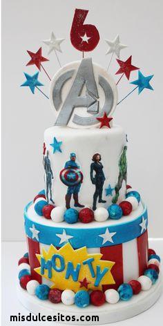Tortas Avengers. Venta de tortas artísticas en Lima