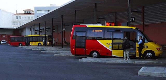 Estação de ônibus em Mahón - Menorca